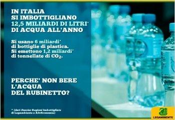 acquainbottiglia Legambiente Acqua in bottiglia: un business tutto italiano